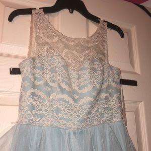Formal Champagne-Blue Junior's Dress